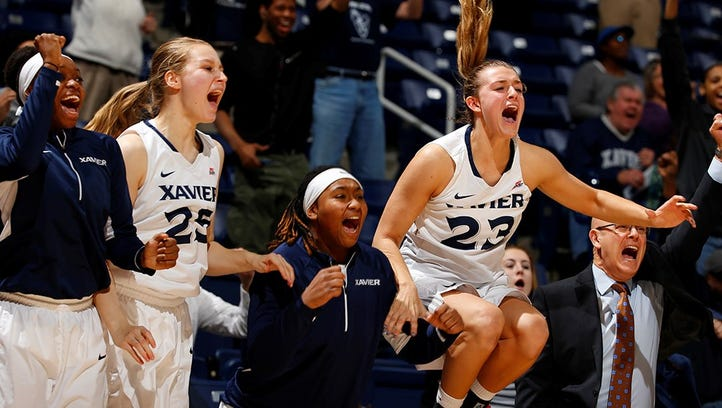 Xavier's women's basketball team defeated Creighton Sunday on a buzzer beater by Jenna Crittendon.