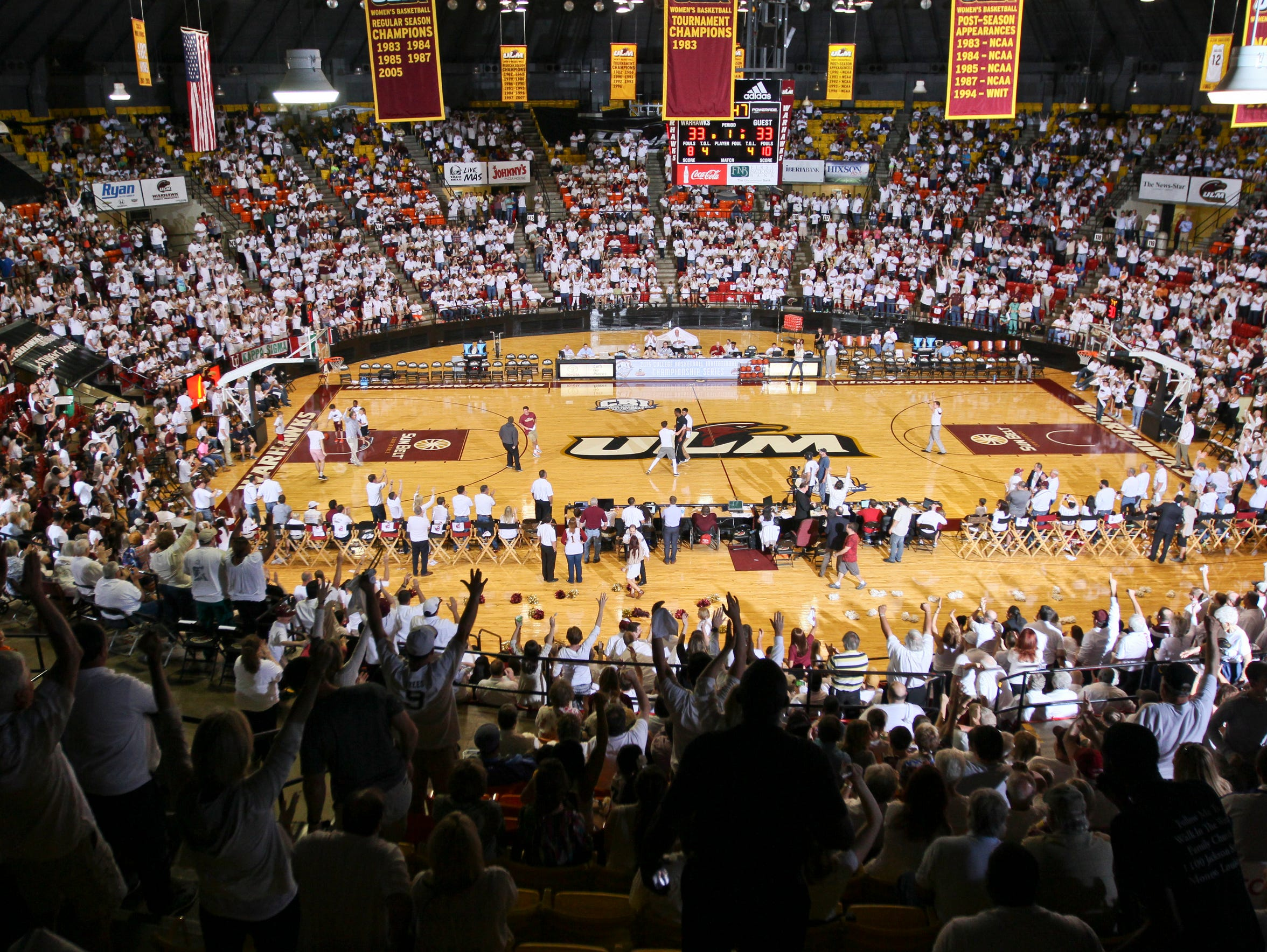 """A crowd of 4,460 showed up to ULM's """"white-out"""" game"""