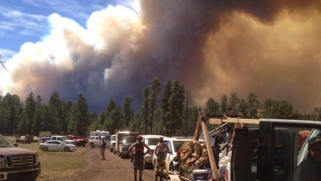 The San Juan Fire erupted near Show Low.