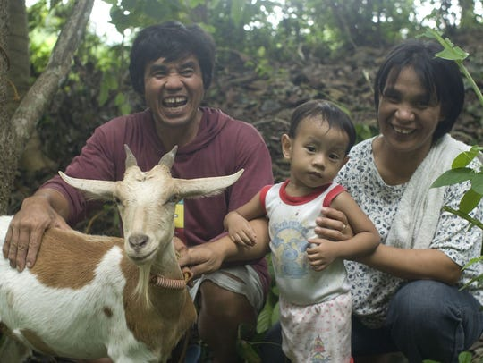 Family and goat in Nicaragua.