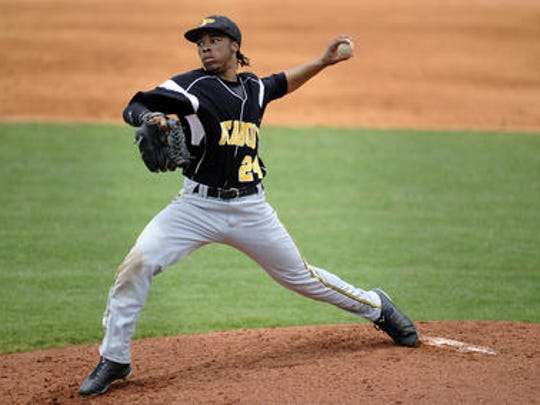 Kendrick Malone is Peabody's No. 3 pitcher and also