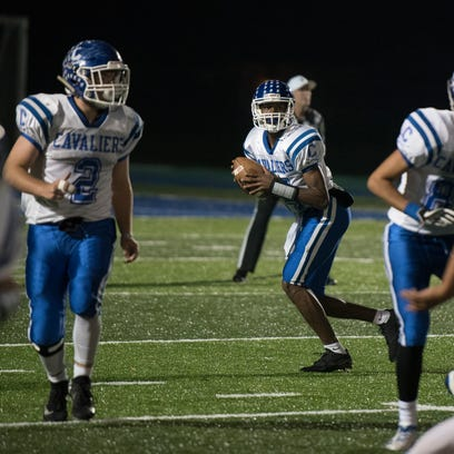 Chillicothe quarterback Branden Maughmer looks to throw