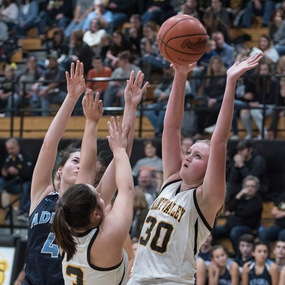 Paint Valley's Kelsey Dunn attempts to block a shot