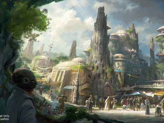 Star Wars Land rendering.
