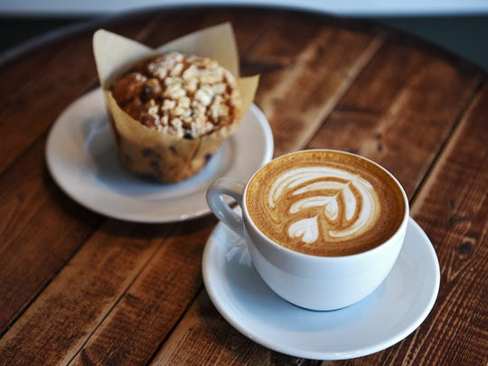 Coffea Roasterie and Espresso Bar's blueberry muffin
