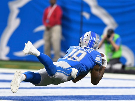 Sept. 10, 2017: Kenny Golladay makes a diving catch