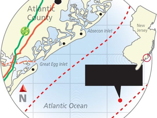 A map of the wreck of the Robert Walker.