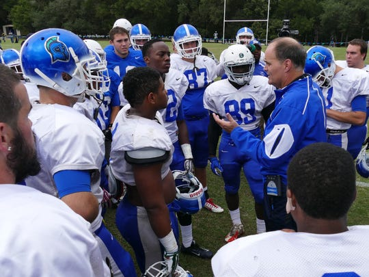 UWF football coach Pete Shinnick and his team completed their fall season Saturday with a final intrasquad scrimmage.