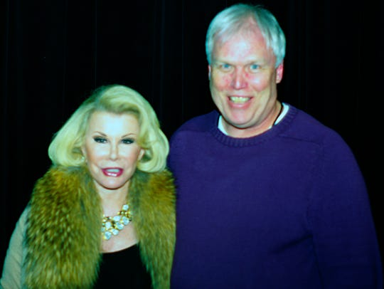 Joan Rivers meets and greets with Michael C. Moore