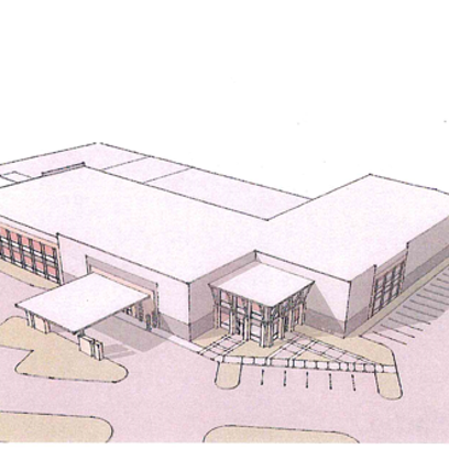 A mockup of a proposed storage center on Fern Avenue