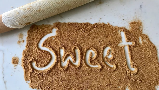 Coconut sugar is an unrefined, granulated sweetener made from coconut palm flower sap lending a nutty flavor to baked goods.