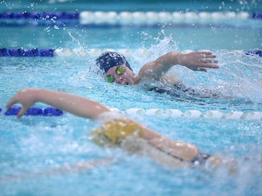 The Stacy Frey Memorial Swim Meet, also known as the I-15 Invitational, is midway between the start of the prep swimming season and the state meet in February.
