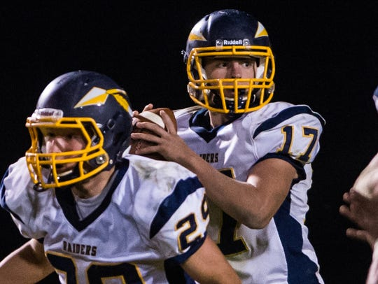 Elco's Braden Bohannon ran for four touchdowns and
