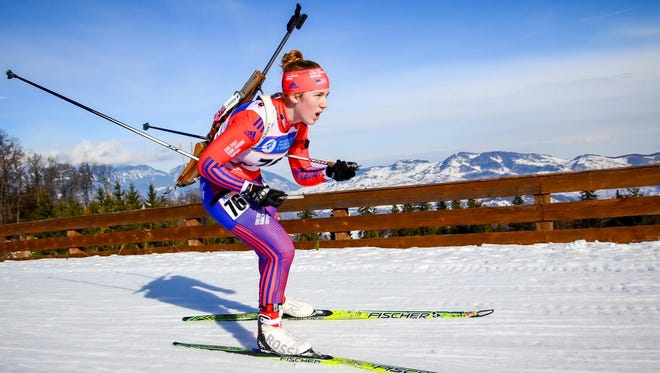 Elmira native Chloe Levins competes in the International Biathlon Union Youth/Junior World Championships Monday in Cheile Gradistei, Romania.