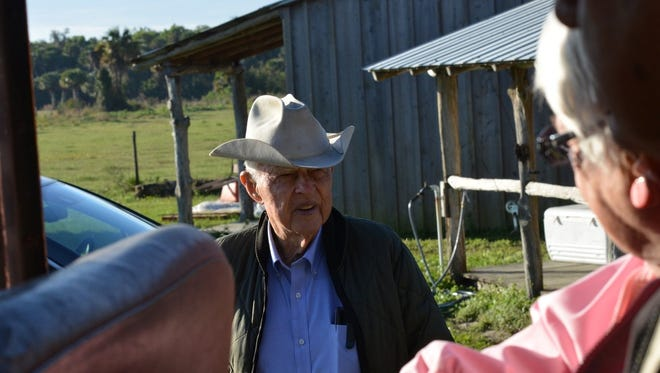 The late Bud Adams was a frequent tour guide for visitors to his family's ranch.