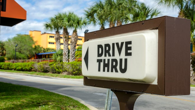 A drive thru sign.