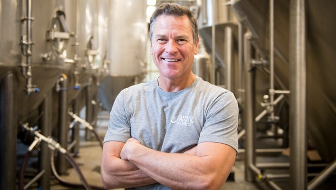 Marty Velas, pictured on February 7, 2018, is the owner and head brewer at Knoxville's Fanatic Brewing Company.