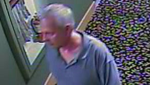 The Des Moines Police Department released photos Tuesday of a person of interest involved in overnight burglaries at downtown Des Moines businesses.