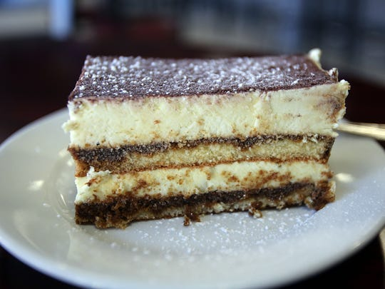 Tiramisu is served at Cafe Dolce in Mamaroneck Oct.