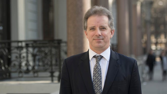 Christopher Steele, the former British spy shown in London in a 2017 file photo, wrote the controversial 'Steele dossier' about alleged ties between Donald Trump and Russia.