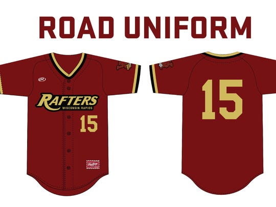 New road uniforms for Wisconsin Rapids Rafters