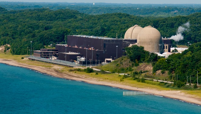 The D.C. Cook nuclear plant operates on the shores of Lake Michigan in Bridgman, Mich.