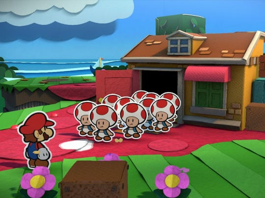 """Paper Mario: Color Splash"" features Toads. A LOT of Toads."