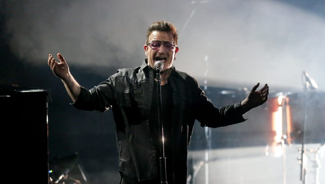 Bono performs in 2014.
