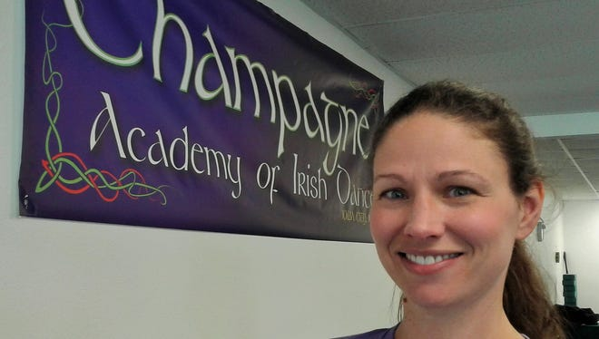 Trea Champagne of Iowa City is the only certified Irish dance instructor in the state and the owner/operator of Champagne Academy of Irish Dance.  She's shown in her North Liberty studio.