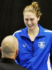 Lakeland's Emma Hazel receives her MHSAA Division 1