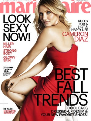 """Cameron Diaz on the cover of """"Marie Claire"""" magazine."""