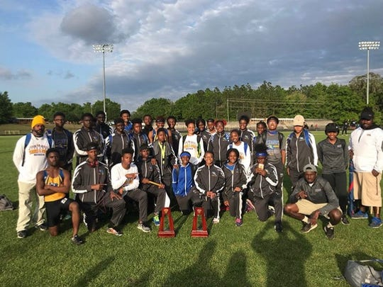 Rickards' girls track and field team was the District