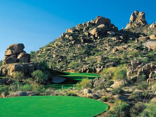 Scenic view of The Estancia golf course.