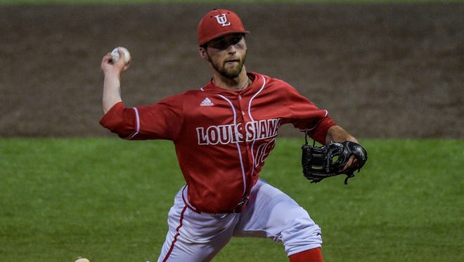UL pitcher Colton Lee (19), shown here during a May 2015 game against South Alabama, is back after sitting out 2016 for disciplinary reasons.