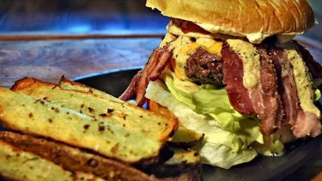 Blackened Arkhoma burger.