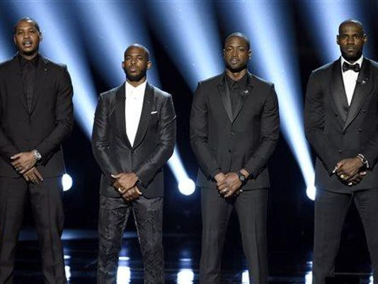 Carmelo Anthony, Chris Paul, Dwyane Wade, LeBron James