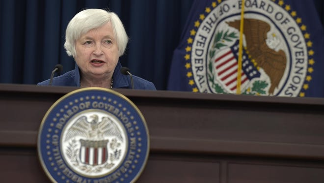 Federal Reserve Chair Janet Yellen speaks during a news conference in Washington, Wednesday, March 15, 2017. The Federal Reserve is raising its benchmark interest rate for the second time in three months and signaling that any further hikes this year will be gradual. (AP Photo/Susan Walsh)