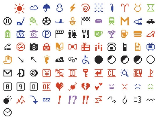 This is the original set of 176 emojis that the Museum