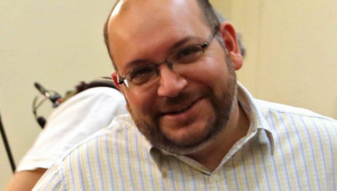 A file picture dated 10 September 2013, shows the Washington Post Iranian-American journalist Jason Rezaian during a press conference in Tehran, Iran.
