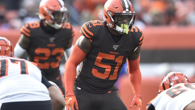 Browns linebacker Mack Wilson (51) needs to prove he is more than a coverage guy.