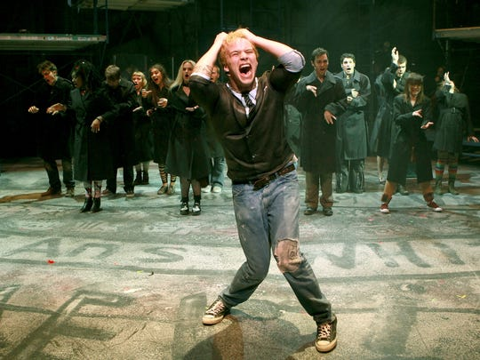 """A production shot from CCM's 2016 production of Green Day's """"American Idiot."""" Steve Goers was music director for the show."""