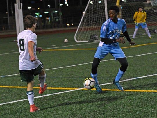 Captain Shreve and Loyola soccer at Shreveport's Lee