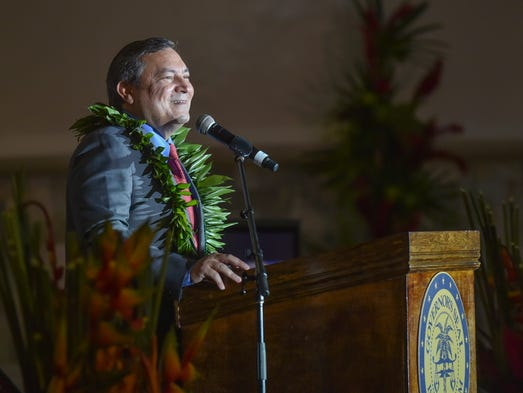 Gov. Eddie Calvo delivers his annual State of the Island