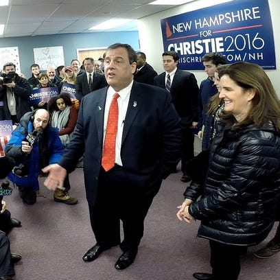 Republican Presidential candidate and NJ Governor Chris