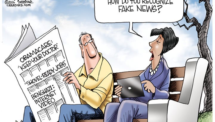 Cartoonist Gary Varvel: Fake news