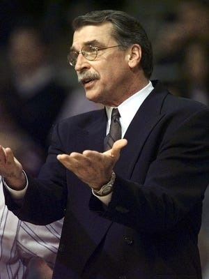 Former Pacers coach and executive George Irvine, shown here when he was coaching the Detroit Pistons in 2001, has died according to the team.