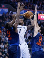 Memphis Grizzlies forward Jarell Martin (1) shoots