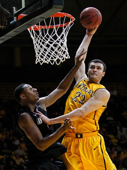 USP NCAA BASKETBALL: SAN DIEGO STATE AT WYOMING S BKC USA WY
