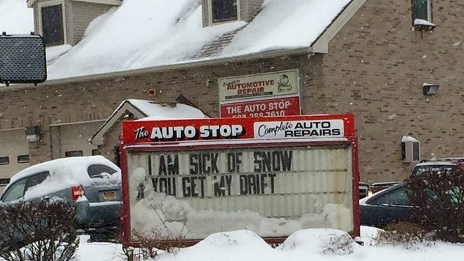 A sign at The Auto Shop in the city is more than a simple eye-catcher.