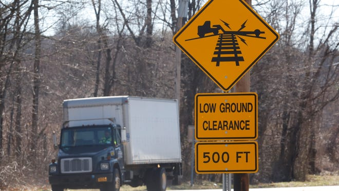 New railroad crossing signs have been placed around the Commerce Street intersection at the Taconic State Parkway in Valhalla on Mar. 2, 2017.
